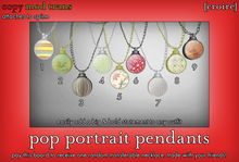 [croire] Pop Portrait Necklaces (fatpack/9 included) Cute girly teen boho hipster patterns, bright chunky big necklaces