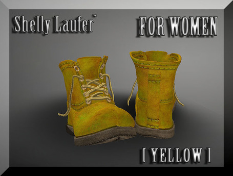 ::: Shelly Laufer Work Boots [Yellow] For Women :::