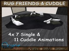 Carpet to cuddle and relax with Friends - black & white - Rug & Pillows - Living Room -