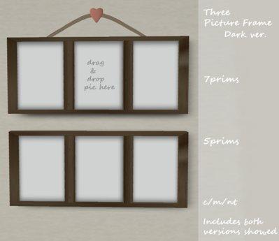 Three Picture Frame.Dark   [Boxed]m/c/nt