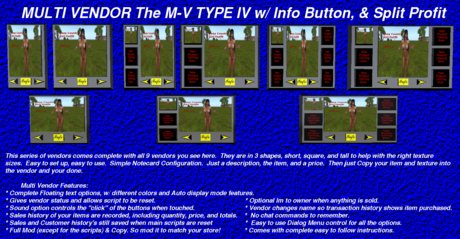 M-V Type IV Set w/ Info Button & Split Profit Multi Vendor