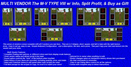 M-V TYPE VIII w/ Info Button, Split Profit, Buy as Gift Options Multi Vendor