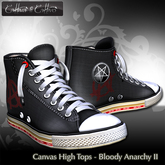 Cattiva e Cattivo Canvas High Tops - Bloody Anarchy II