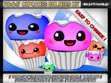 Yummy Cupcakes Builders Kit // 1 Prim