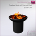 Full Perm Fireplace Bowl with Fire and coal - Modern Fireplace Bowl Builder's Kit Set