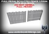 ~Full perm 1 prim wooden fence + Map! for builders