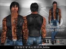 Immerschoen Man - Leather Vest 'Jose' (Black)