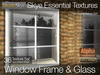 Window Frame & Glass with Environmental Reflections- Skye Essential - 36 Full Perms Textures