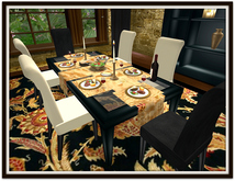 Dinner Party Dining Set for 6: Black Glow & Glass