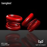 Night Owl Designs ~ Bangles! Red