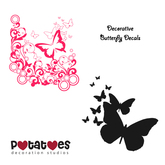 Potatoes Decoration - Butterfly Decals