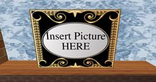 gold and black scroll photo frame 5
