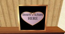 gold and heart black heart photo frame