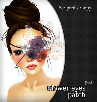 Flower eye patch BND /Special offert /  Promo
