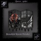 NuTec: Gothic Dagger Rose Room Divider