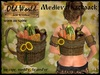 Medieval backpack with vegetables - Old World - Rustic / Medieval