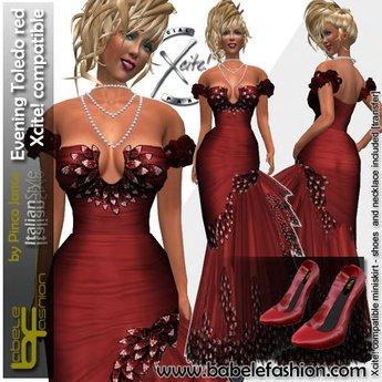 Babele Fashion Evening Toledo Red