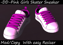 PROMO Pink on White Girly Skate Sneakers with Resizer for the summer(BOXED)