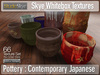 Pottery Textures : Contemporary Japanese  | Skye WhiteBox Textures - 66 Full Perms Textures
