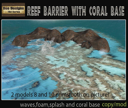 PROMO 260 L OFF! Off simReef Barrier with coral base - outside sim reefs
