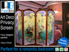 Beautiful Art Deco Dressing Room / Privacy Screen
