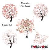 Potatoes Decoration - Pink Decals