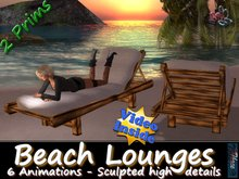333 - Beach Lounges - Sculpted - Animated