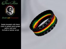 black chain rasta  Bracelet by jamman