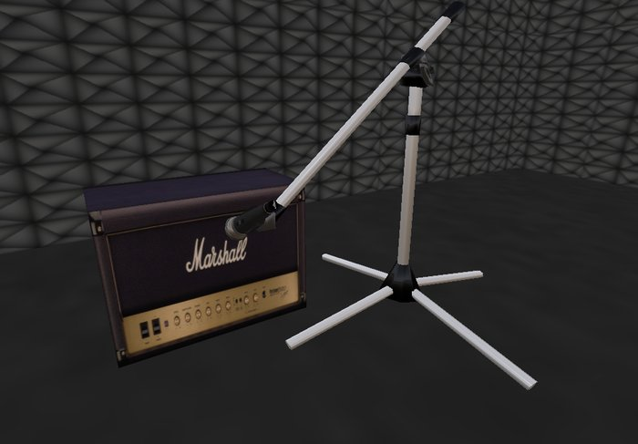 Guitar AMP + Microphone + Tripod for studio recording or stage