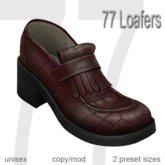 77 Loafers - Vintage Bordeaux