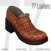 77 Loafers - Vintage Orange
