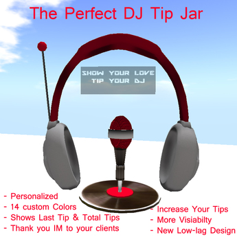 Second Life Marketplace Club Dj Tip Jar Deluxe 7 0 New Design The Perfect Tipjar