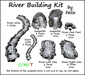river building kit by felix - 7 parts copy-mody (for landscaping cave grotto garden tree forest plant flower waterfall