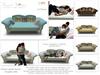 "<Heart Homes Furniture> Coastal Couple Sofa ""Home Sweet Home"""
