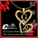 G&T Couple initial letters hearts Gold NEW