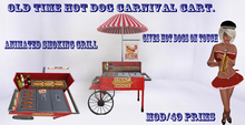 old time hot dog carnival  cart