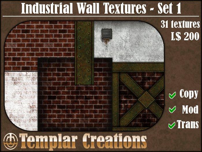 Industrial Wall Textures, Set 1