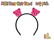 [SF] MIRI Bear hair band_hot pink