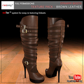 FULL PERMISSIONS Strappy boots - Brown Leather Texture Pack made by RedPoly