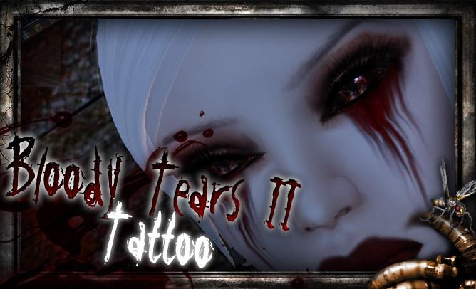 REPULSE - Bloody Tears II Face Tattoo