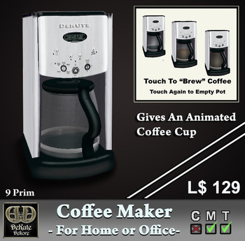 Coffee Maker, Coffee Machine, Gives Coffee Cup