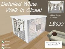 White Detailed WalkIn/ Boxed