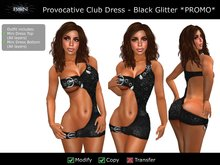 BSN Provocative Club Dress - Black Glitter *PROMO*