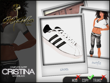 Complete Outfit Cristina White/Black - Sneakers included in matching color - MiMo Couture