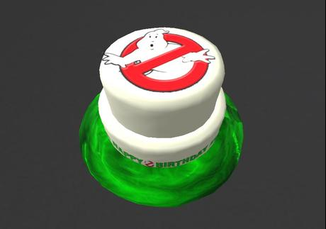 Fabulous Second Life Marketplace Ghostbusters Birthday Cake 5 Prims Boxed Funny Birthday Cards Online Alyptdamsfinfo
