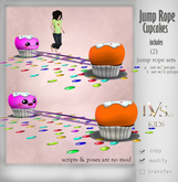 {Lvs Kids} Cupcake jump rope (pink and orange)