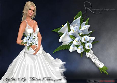 Second Life Marketplace Rebel Hope Designs Calla Lily Bridal