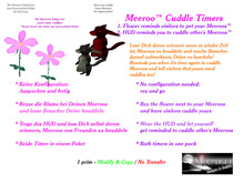 Meeroo Cuddle Timer Pack - remind visitors and yourself when it's time to cuddle again!