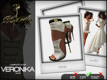 Complete Outfit Veronika White - High heel shoes included in matching color - MiMo Couture