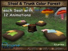 Stool & Trunk Forest Relax & Chill Color Version * Special Price Limited Time *